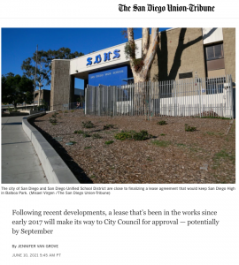 San Diego High on cusp of securing free rent for Balboa Park campus for another century