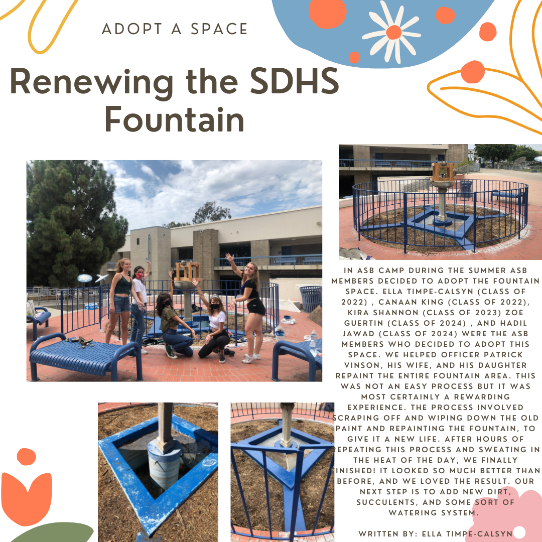 Fountain Space adopted by ASB summer 2021